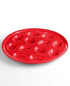 Scarlet Egg Plate