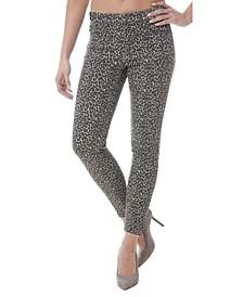 Soho Cheetah-Print High-Rise Skinny Jeans