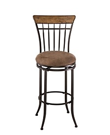 Charleston Swivel Vertical Spindle Counter Height Stool