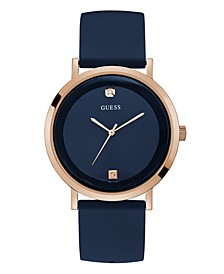 Men's Diamond-Accented Rose Gold-Tone and Blue Watch, 42mm
