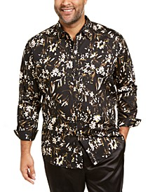 INC Men's Big and Tall Dominic Floral Shirt, Created For Macy's