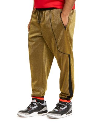 INC Men's Big & Tall Metallic Jogger Pants, Created For Macy's