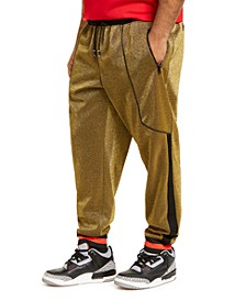 INC Men's Big & Tall Metallic Jogger Pants, Created For Macy's