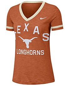 Women's Texas Longhorns Slub Fan V-Neck T-Shirt