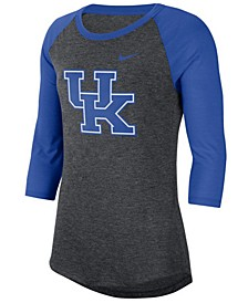 Women's Kentucky Wildcats Logo Raglan T-Shirt