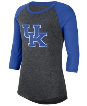 Nike Women's Kentucky Wildcats Logo Raglan T-Shirt