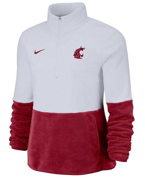 Nike Women's Washington State Cougars Therma Long Sleeve Quarter-Zip Pullover