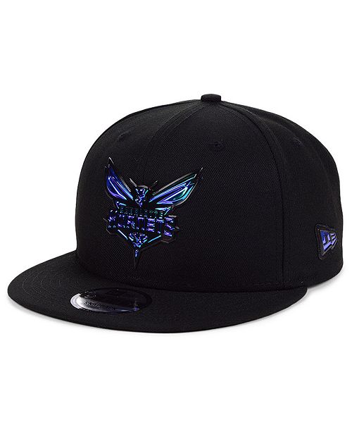 New Era Charlotte Hornets Double Bevel 9FIFTY Snapback Cap