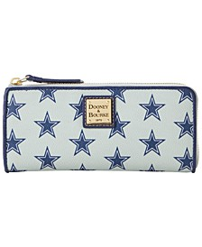 Dallas Cowboys Saffiano Zip Clutch