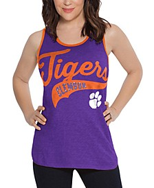 Women's Clemson Tigers Tailsweep Colorblock Tank