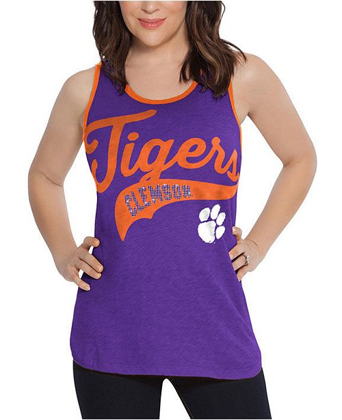 Touch by Alyssa Milano Women's Clemson Tigers Tailsweep Colorblock Tank