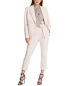 Shawl-Collar Blazer, Blouse & Pants