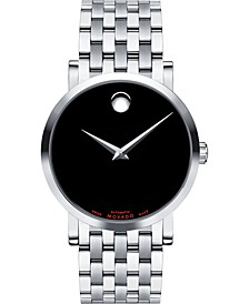 Men's Swiss Automatic Red Label Stainless Steel Bracelet Watch 38mm