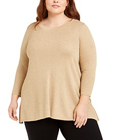 Plus Size Metallic Sweater