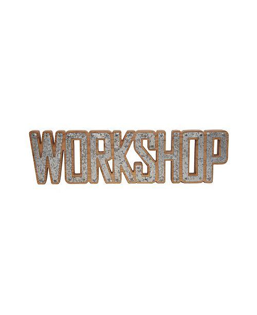 DesignStyles Decorative Workshop Galvanized Steel and Wood Sign