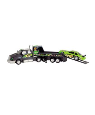 Dickie Toys Majorette Racing Transporter with Race Car