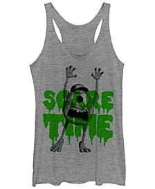 Disney Pixar Women's Monsters Inc. Mike Scare Time Tri-Blend Tank Top