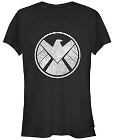 Marvel Women's Agents of S.H.I.E.L.D. Grungy Logo Vintage-Inspired Short Sleeve Tee Shirt