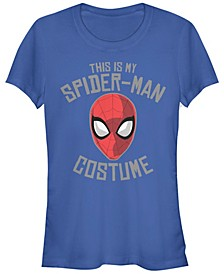 Marvel Women's Spider Man Halloween Costume Mask Short Sleeve Tee Shirt