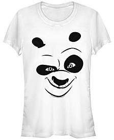 Kung Fu Panda Women's Po Big Face Costume Short Sleeve Tee Shirt