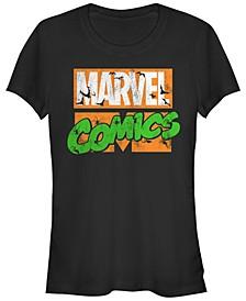 Marvel Women's Comics Haunted Retro Logo Bats Spiders Short Sleeve Tee Shirt