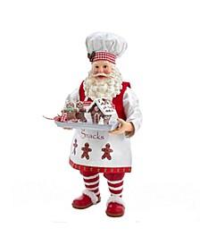 11-Inch Fabriché™ Gingerbread Chef Santa