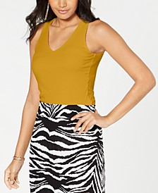 INC Ribbed V-Neck Tank Top, Created for Macy's