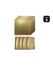 "Reversible Metallic Galaxy Snake Skin Texture Dining Table 15"" Placemats - Set of 4"