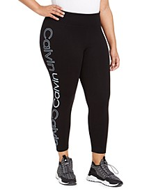 Plus Size Logo-Print Leggings