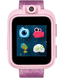 Unisex PlayZoom Fuchsia Glitter Strap Touchscreen Smart Watch 42x52mm