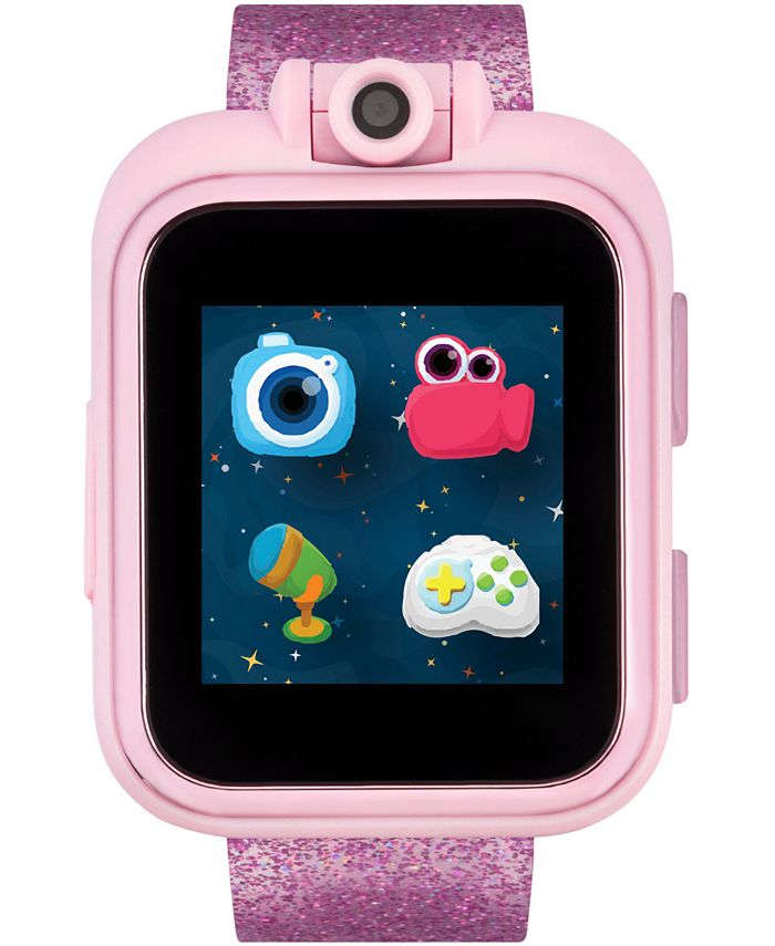 iTouch - Unisex PlayZoom Fuchsia Glitter Strap Touchscreen Smart Watch 42x52mm