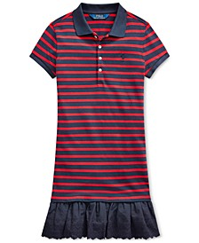 Big Girls Eyelet Stretch Mesh Polo Dress