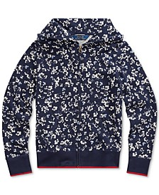 Big Girls Floral Cotton Terry Hoodie