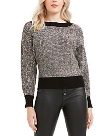 Metallic Dolman-Sleeve Sweater, Created for Macy's