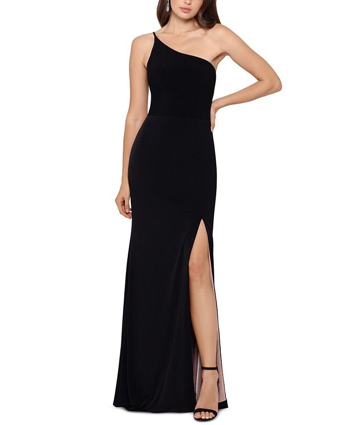 XSCAPE - One-Shoulder Gown