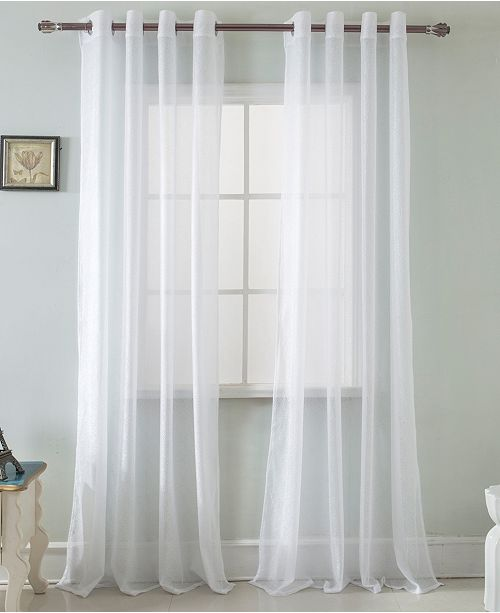 """RT Designers Collection Spyder Lace 54"""" x 90"""" Single Curtain Panel"""