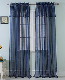 "Gretchen 54"" x 90"" Sheer Curtain Panel With Attached Valence"