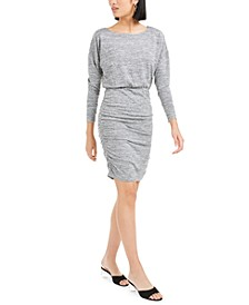 Ruched Sweater-Knit Mini Dress, Created For Macy's