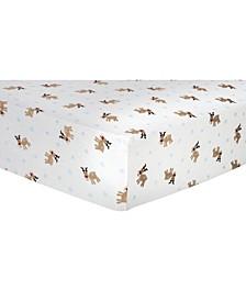 Reindeer Flannel Crib Sheet