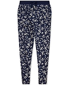 Big Girls Floral Cotton French Terry Pants