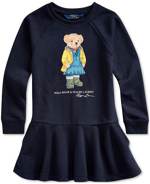 Polo Ralph Lauren Little Girls Raincoat Bear Terry Dress