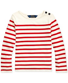 Little Girls Striped Cotton Jersey Top