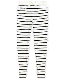 Big Girls Striped Cotton-Blend-Terry Pants
