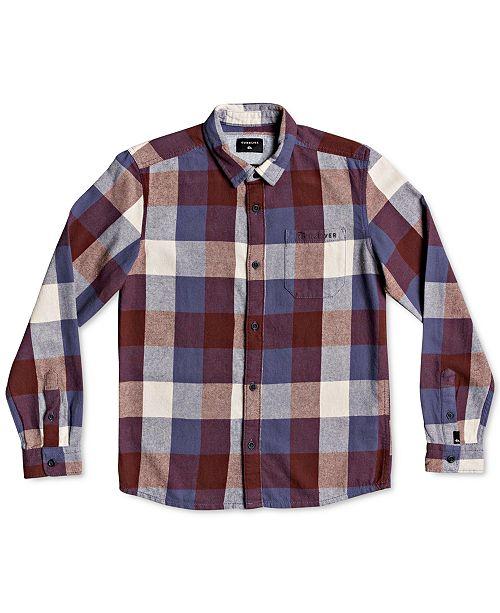 Quiksilver Big Boys Cotton Plaid Flannel Shirt