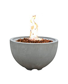 "26"" Nantucket Outdoor Fire Pit Bowl Liquid Propane"