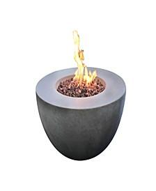 "34"" Roca Outdoor Fire Pit Table Liquid Propane"