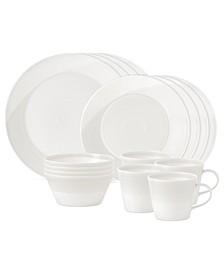 Dinnerware, 1815 White 16-Piece Set, Service for 4