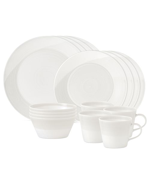Royal Doulton Dinnerware, 1815 White 16-Piece Set, Service for 4