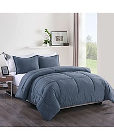 Washed Cotton Comforter Mini Set, King