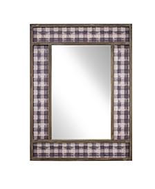 American Art Decor Decorative Wall Vanity Mirror with Plaid Pattern